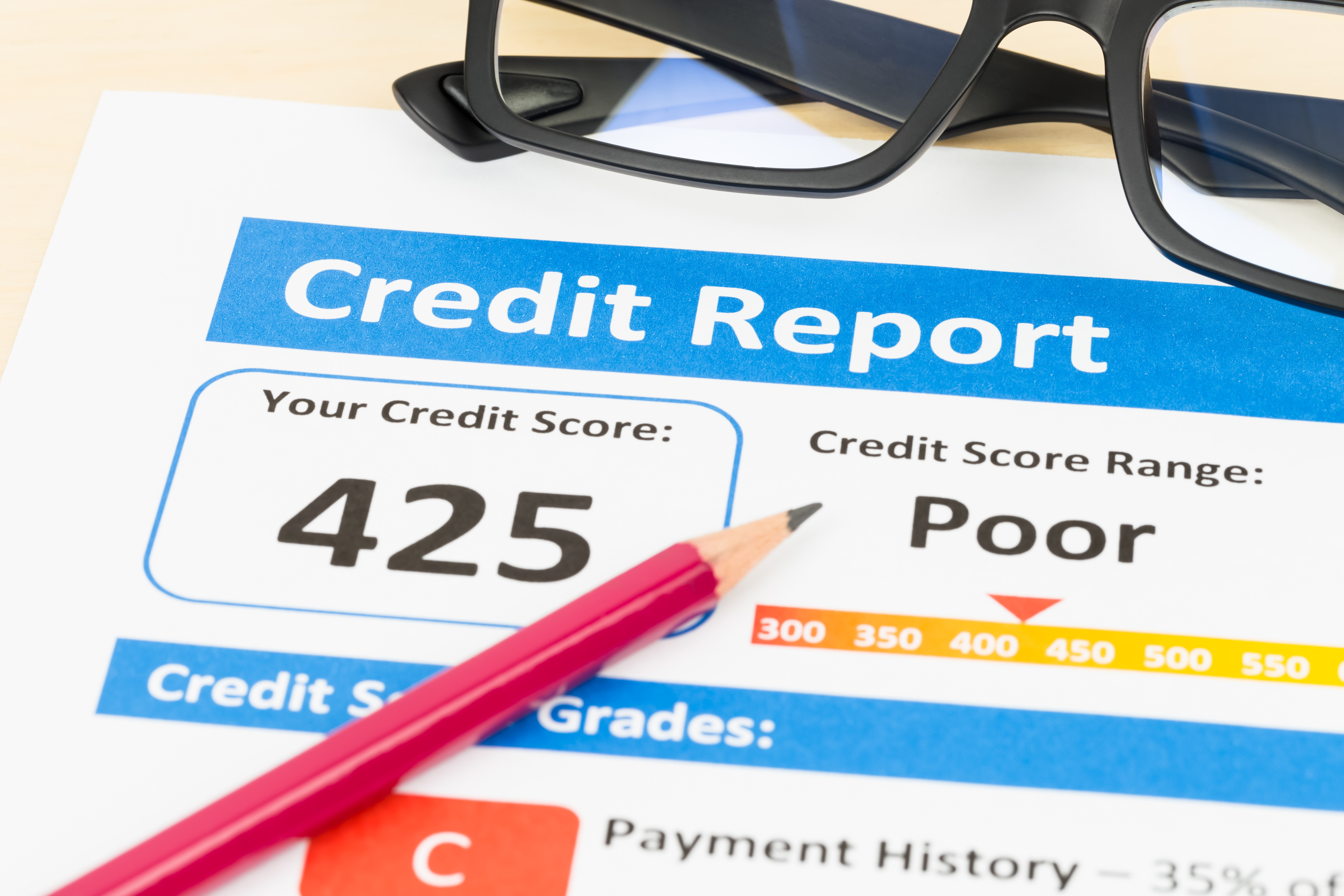 Poor credit report can see you denied for credit