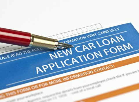 A new car loan application form