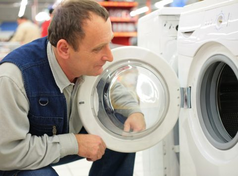 Man buying washing machine from BrightHouse