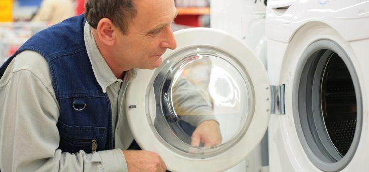 Man buying washing machine from BrightHouse